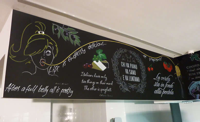 restaurant blackboard art
