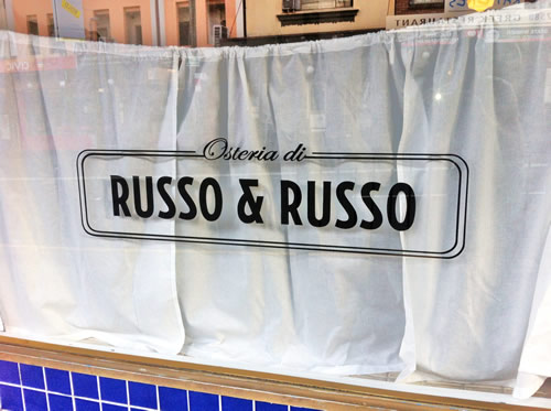 restaurant hand painted sign