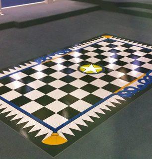 hand painted floors