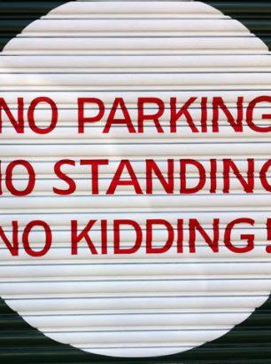 roller door painted signs